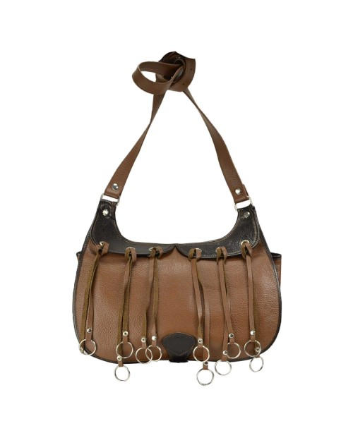 Leather hunting cartridge bag with game carrier st...