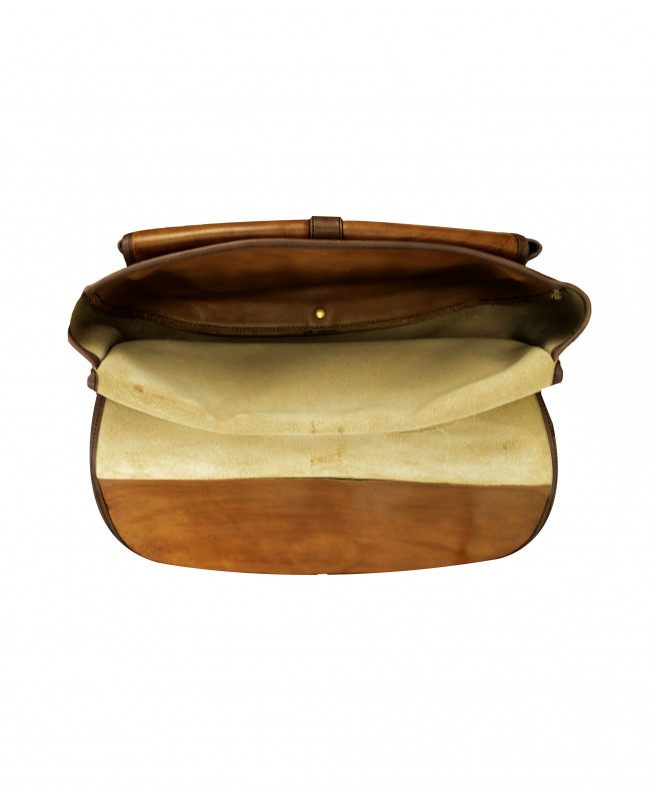 Leather hunting cartridge bag with game carrier straps
